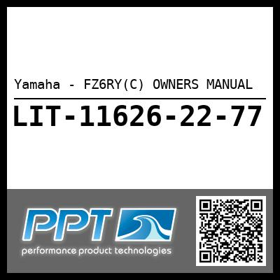 Yamaha - FZ6RY(C) OWNERS MANUAL