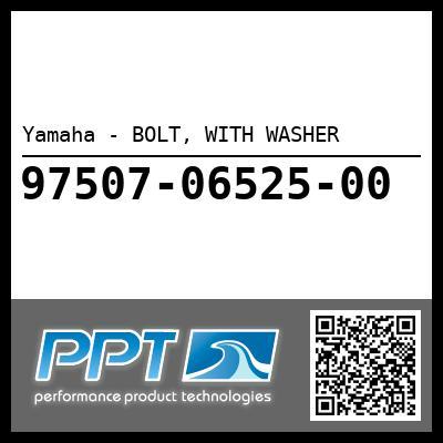 Yamaha - BOLT, WITH WASHER