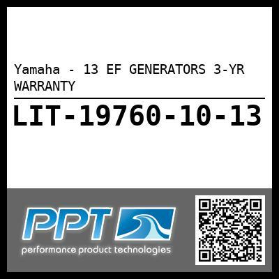 Yamaha - 13 EF GENERATORS 3-YR WARRANTY