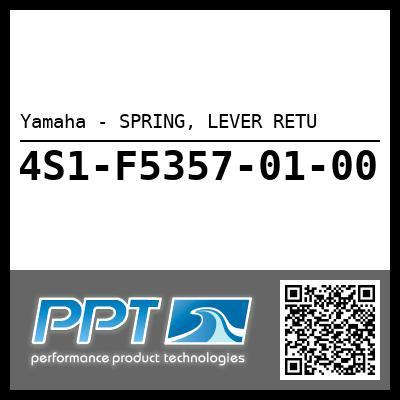 Yamaha - SPRING, LEVER RETU