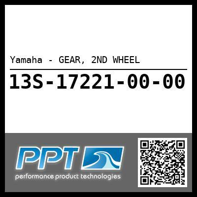 Yamaha - GEAR, 2ND WHEEL