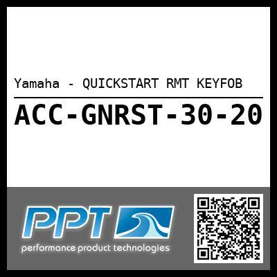 Yamaha - QUICKSTART RMT KEYFOB