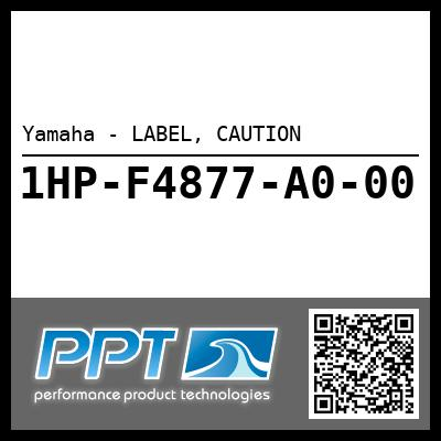 Yamaha - LABEL, CAUTION