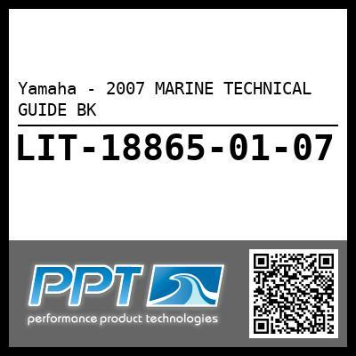 Yamaha - 2007 MARINE TECHNICAL GUIDE BK