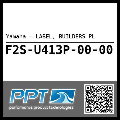 Yamaha - LABEL, BUILDERS PL