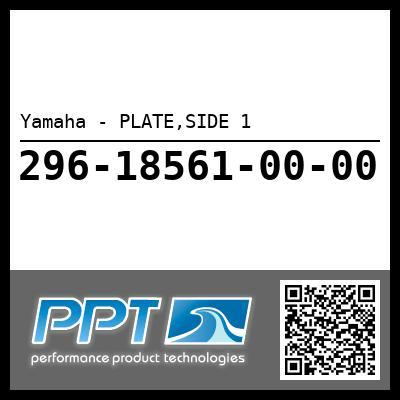 Yamaha - PLATE,SIDE 1
