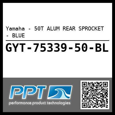 Yamaha - 50T ALUM REAR SPROCKET - BLUE