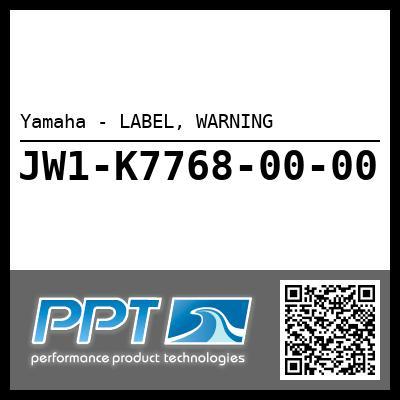 Yamaha - LABEL, WARNING