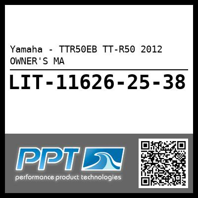 Yamaha - TTR50EB TT-R50 2012 OWNER'S MA