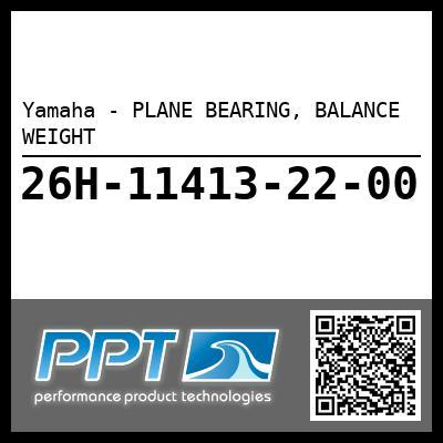 Yamaha - PLANE BEARING, BALANCE WEIGHT