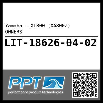 Yamaha - XL800 (XA800Z)    OWNERS