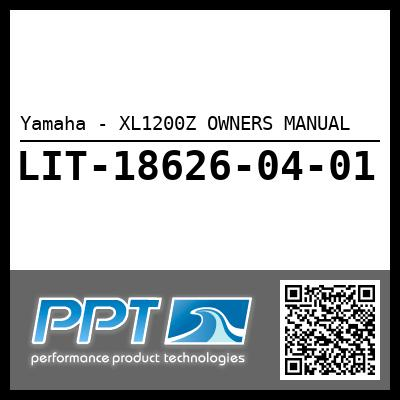 Yamaha - XL1200Z OWNERS MANUAL