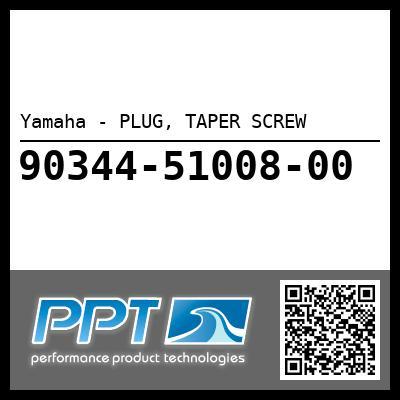Yamaha - PLUG, TAPER SCREW