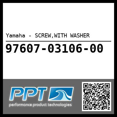 Yamaha - SCREW,WITH WASHER