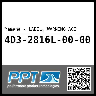 Yamaha - LABEL, WARNING AGE