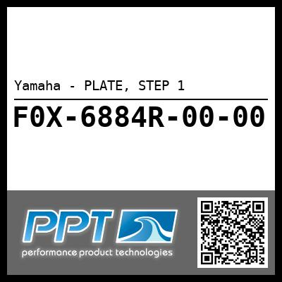 Yamaha - PLATE, STEP 1