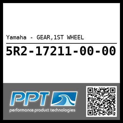 Yamaha - GEAR,1ST WHEEL