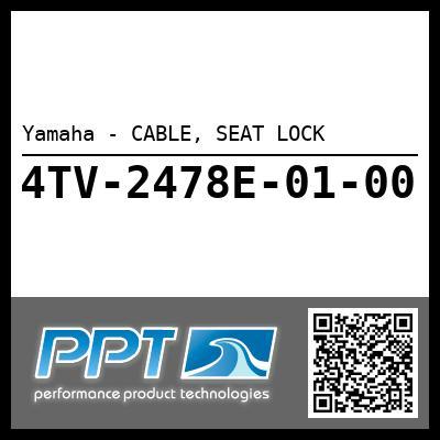 Yamaha - CABLE, SEAT LOCK