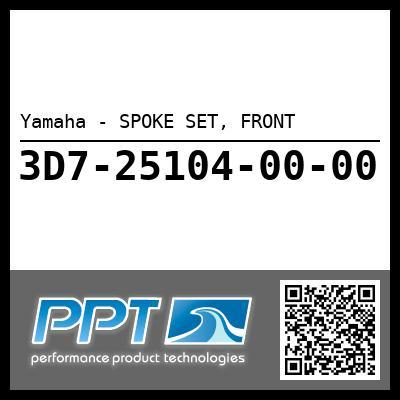Yamaha - SPOKE SET, FRONT