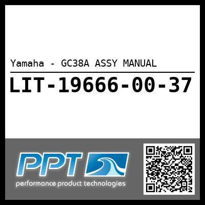 Yamaha - GC38A ASSY MANUAL