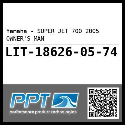 Yamaha - SUPER JET 700 2005 OWNER'S MAN