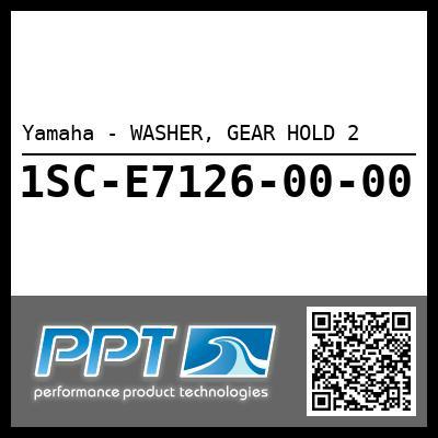 Yamaha - WASHER, GEAR HOLD 2