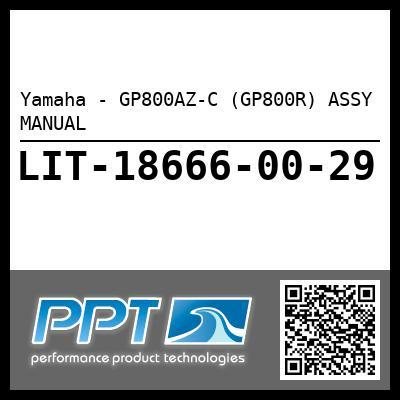 Yamaha - GP800AZ-C (GP800R) ASSY MANUAL