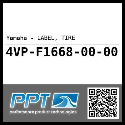 Yamaha - LABEL, TIRE