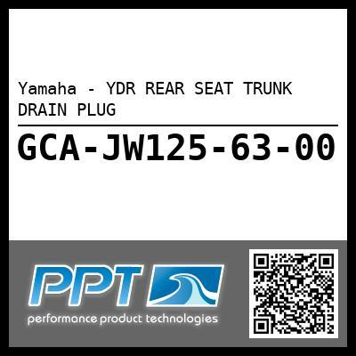 Yamaha - YDR REAR SEAT TRUNK DRAIN PLUG