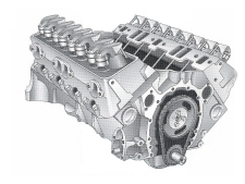 Engine - GM, 5.7L, V8, Stand Rot, Non Tin - Click Here to See Product Details