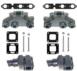 Mercruiser 4.3L V6 Coated Cast Iron Exhaust Manifold & Riser Kit - Click Here to See Product Details