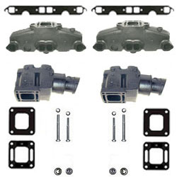 Mercruiser Mercruiser 5.0L/5.7L/6.2L Coated Cast Iron Exhaust Manifold & Riser Kit - Click Here to See Product Details