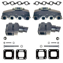 Mercruiser Big V8 Cast Iron Exhaust Manifold & Riser Kit - Click Here to See Product Details
