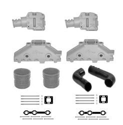 Mercruiser V6 Cast Iron Exhaust Manifold & Riser Single Piece Conversion Kit - Click Here to See Product Details