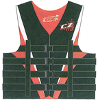 VEST MENS 4B NYLON L, RED/W/B - Click Here to See Product Details