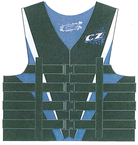 VEST MENS 4B NYLON L, BLUE/W/ - Click Here to See Product Details
