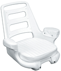 WHITE ROTO CHAIR W/CUSHIONS - Click Here to See Product Details