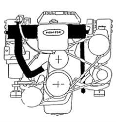 Mercruiser 1985-1997 4.3L V6 with V Belts *High Capacity for >90F Water Temp's* (Half system) - Click Here to See Product Details