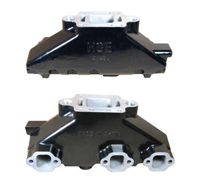 Internally & Externally Coated Mercruiser 4.3L V6 Aluminum Exhaust Manifold - Click Here to See Product Details