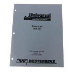 MANUAL-PARTS M4-30 (WESTERBEKE P/N Q200144) - Click Here to See Product Details