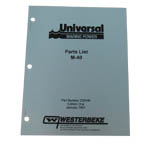 MANUAL-PARTS M-40 (WESTERBEKE P/N Q200146) - Click Here to See Product Details
