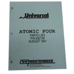 MANUAL-PARTS ATOMIC FOUR (WESTERBEKE P/N Q200150) - Click Here to See Product Details