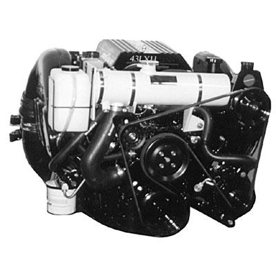 "Fresh Water Cooling Kit (Half System) - Mercruiser 4.3 liter w/ Serpentine Belt & SINGLE PIECE MANIFOLDS, 1996-1999 ""Standard Capacity"""