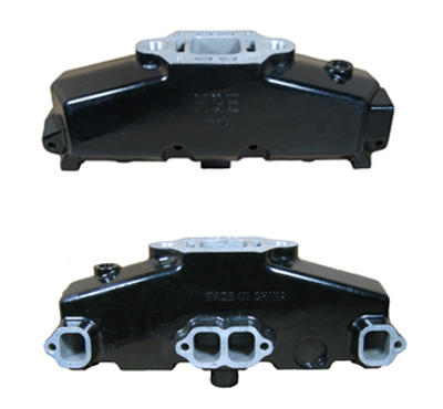 Internally & Externally Coated Mercruiser 5.0L/5.7L/6.2L Aluminum Exhaust Manifold