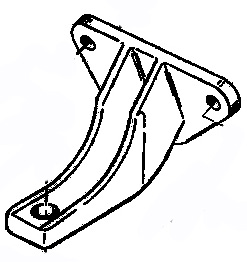 Mount Bracket - Engine, Mercruiser, Aluminum - Replaces Mercruiser p/n 79550A 1 - Click Here to See Product Details