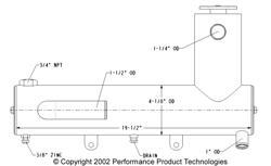 Chrysler L-Shaped Heat Exchanger - Click Here to See Product Details